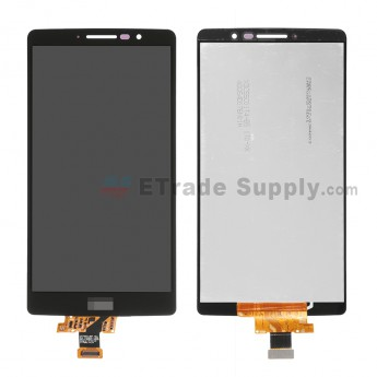 For LG G StylO LS770 LCD Screen and Digitizer Assembly Replacement - Black - With Logo - Grade S+