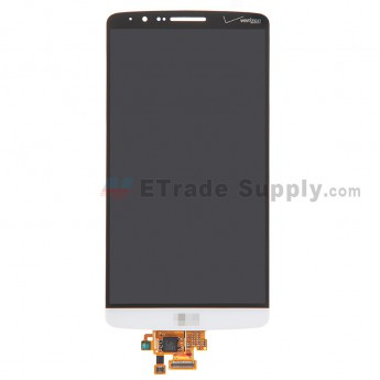 For LG G3 VS985 LCD Screen and Digitizer Assembly  Replacement - White - with Logo - Grade S+