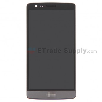 For LG G3 S D722 LCD Screen and Digitizer Assembly with Front Housing Replacement (No Samsungall PAcerts) - Gray - Grade S+