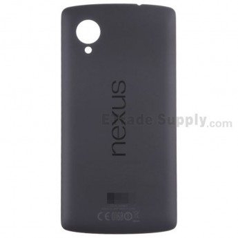 For LG Nexus 5 D821 Battery Door Replacement - Black - Grade S+
