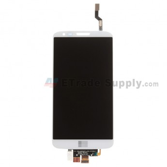 For LG G2 VS980 LCD Screen and Digitizer Assembly Replacement - White - With Logo - Grade S