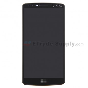 For LG G3 VS985 LCD Screen and Digitizer Assembly with Front Housing Replacement - Black - With Logo - Grade S+
