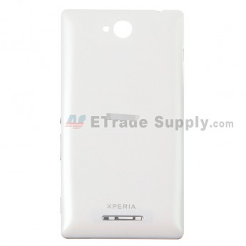 For Sony Xperia C S39h Battery Door Replacement - White - Grade S+