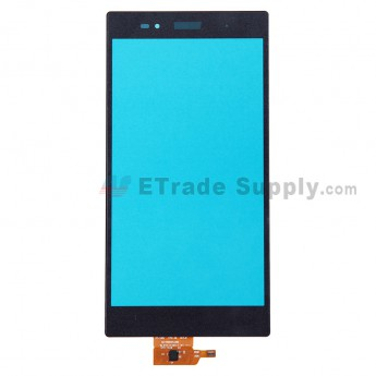For Sony Xperia Z Ultra XL39h Digitizer Touch Screen Replacement - Black - With Logo - Grade S+