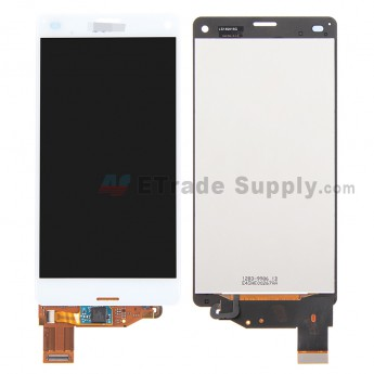 For Sony Xperia Z3 Compact LCD Screen and Digitizer Assembly Replacement - White - With Logo - Grade S+