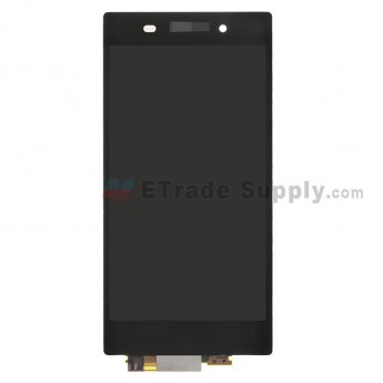 For Sony Xperia Z1 L39h LCD Screen and Digitizer Assembly Replacement - Black - With Logo - Grade S