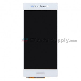 For Sony Xperia Z2 LCD Screen and Digitizer Assembly Replacement - White - With Logo - Grade S+