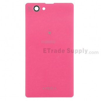 For Sony Xperia Z1 Compact Battery Door Replacement - Pink - With Logo - Grade S+
