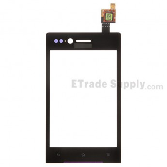 For Sony Xperia Miro ST23i Digitizer Touch Screen Replacement - Black - With Logo - Grade S+