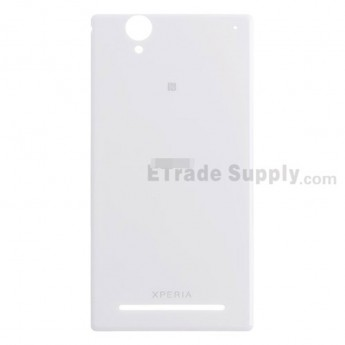 For Sony Xperia T2 Ultra Battery Door Replacement - White - Grade S+