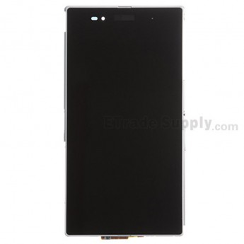 For Sony Xperia Z Ultra XL39h LCD Screen and Digitizer Assembly With Front Housing Replacement - White - Grade S+