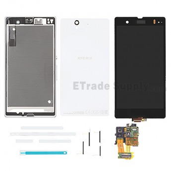 For Sony Xperia Z L36h LCD Screen and Digitizer Assembly with Complete Housing Replacement - White - Grade S+