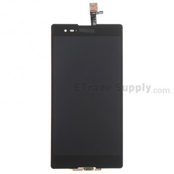 For Sony Xperia T2 Ultra LCD Screen and Digitizer Assembly Replacement - Black - Grade S+