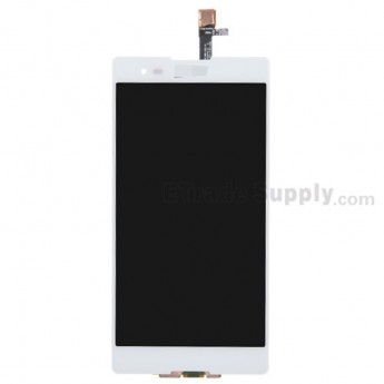 For Sony Xperia T2 Ultra LCD Screen and Digitizer Assembly Replacement - White - Grade S+