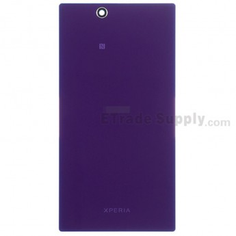 For Sony Xperia Z Ultra XL39h Battery Door Replacement - Purple - With Logo - Grade S+