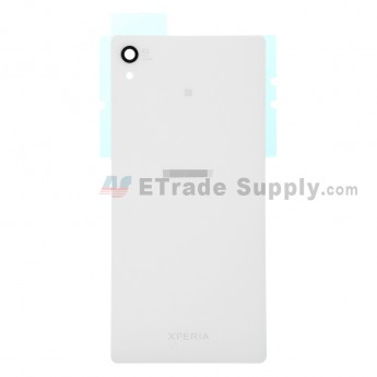 For Sony Xperia Z3+ Battery Door Replacement - White - With Logo - Grade S+