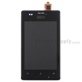 For Sony Xperia E C1505 LCD Screen and Digitizer Assembly with Front Housing  Replacement - Black - Grade S+