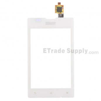 For Sony Xperia E C1505 Digitizer Touch Screen Replacement - White - With Logo - Grade S+