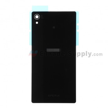 For Sony Xperia Z3+ Battery Door  Replacement - Black - With Logo - Grade S+
