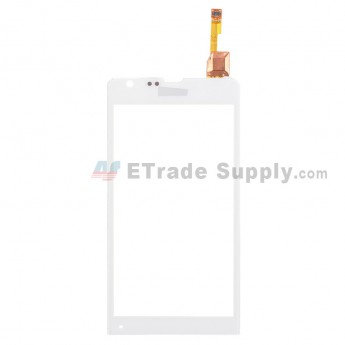 For Sony Xperia SP M35h Digitizer Touch Screen Replacement - White - With Logo - Grade S+