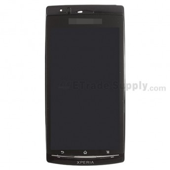 For Sony Ericsson Xperia Arc S LT18i LCD Screen and Digitizer Assembly with Front Housing Replacement - Black - With Logo - Grade S+
