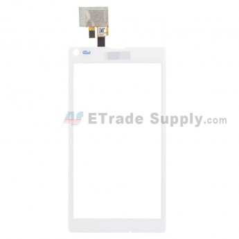For Sony Xperia L S36h C2104, C2105 Digitizer Touch Screen Replacement - White - With Logo - Grade S+