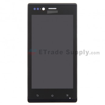 For Sony Xperia J ST26i LCD Screen and Digitizer Assembly with Front Housing Replacement - Grade S+