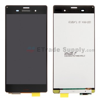 For Sony Xperia Z3 LCD Screen and Digitizer Assembly Replacement - Black - With Logo - Grade R