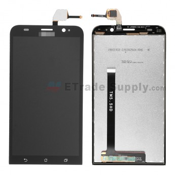 For Asus Zenfone 2 ZE550ML LCD Screen and Digitizer Assembly Replacement - Black - With Logo - Grade S+