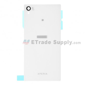 For Sony Xperia Z1 L39h Battery Door  Replacement (NFC Version) - White - With Logo - Grade S+