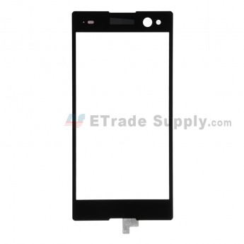 For Sony Xperia C3 Digitizer Touch Screen Replacement - Black - With Logo - Grade S+