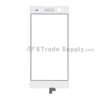 For Sony Xperia C3 Digitizer Touch Screen Replacement - White - With Logo - Grade S+