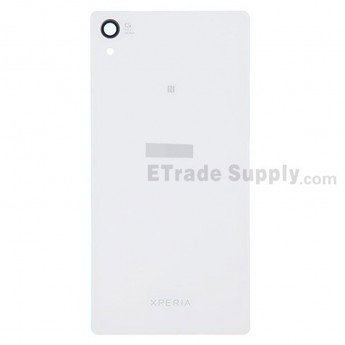 For Sony Xperia Z2 Battery Door Replacement - White - With Logo - Grade S+