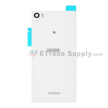 For Sony Xperia Z3 Battery Door Replacement (with NFC) - White - With Logo - Grade S+