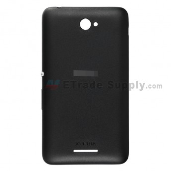 For Sony Xperia E4 Battery Door Replacement - Black - With Logo - Grade S+