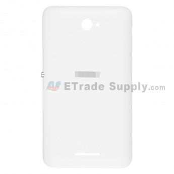 For Sony Xperia E4 Battery Door Replacement - White - With Logo - Grade S+