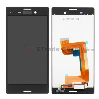 For Sony Xperia M4 Aqua LCD Screen and Digitizer Assembly Replacement - Black - With Logo - Grade S+