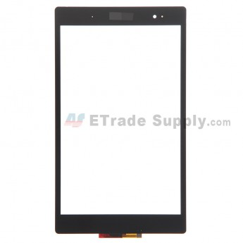 For Sony Xperia Z3 Tablet Compact Digitizer Touch Screen Replacement - Black - With Logo - Grade S+