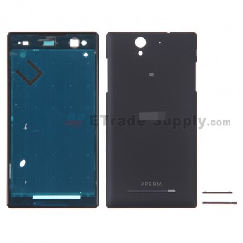 For Sony Xperia C3 Housing Replacement - Black - With Logo - Grade S+