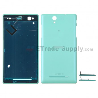 For Sony Xperia C3 Housing Replacement - Mint - With Logo - Grade S+