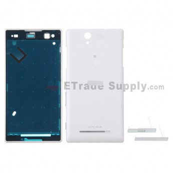 For Sony Xperia C3 Housing Replacement - White - With Logo - Grade S+