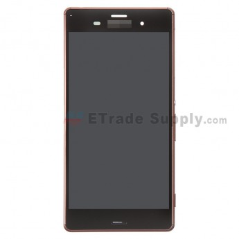 For Sony Xperia Z3 LCD Screen and Digitizer Assembly with Front Housing Replacement - Copper - With Logo - Grade S+