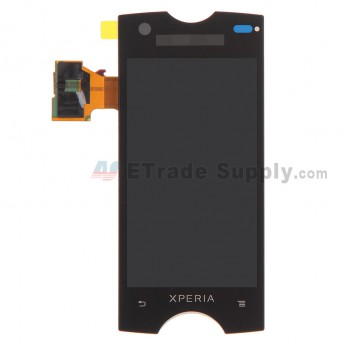 For Sony Ericsson Xperia Ray ST18i LCD Screen and Digitizer Assembly Replacement - Black - With Logo - Grade S+