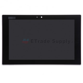 For Sony Xperia Tablet Z LCD Screen and Digitizer Assembly With Front Housing Replacement - White - With Logo - Grade S+