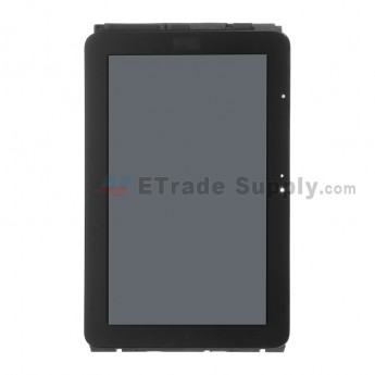 For HTC EVO View 4G LCD Screen and Digitizer Assembly with Front Housing Replacement - Black - With Logo - Grade A