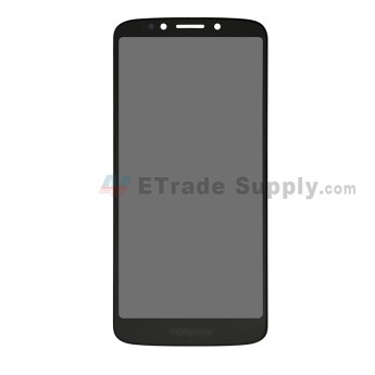 For Motorola Moto G6 Play XT1922-9 LCD Screen and Digitizer Assembly Replacement - Black - With Logo - Grade S+