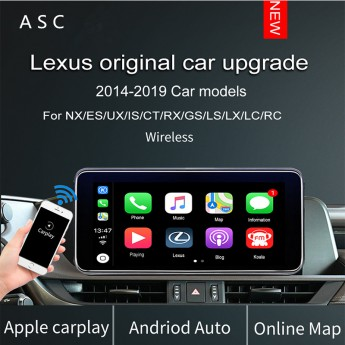 Wireless CarPlay For Lexus NX ES US iS CT RX GS LS LX LC RC Multimedia Interface Car Play With Android Auto Retrofit Kit