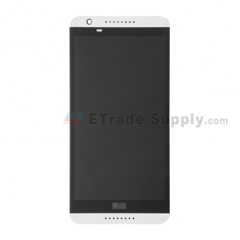 For HTC Desire 820 LCD Screen and Digitizer Assembly with Front Housing Replacement - White - With Logo - Grade S+