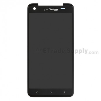 HTC Droid DNA LCD Screen and Digitizer Assembly without Light Guide ,Black, With Logo