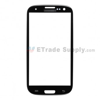 For Samsung Galaxy S III (S3) GT-I9300/I9305/T999/I747/R530/I535/L710 Glass Lens Replacement - Black - Grade S+